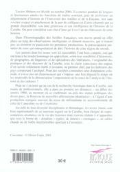 Sur les chemins de l'histoire antillaise. Mélanges offerts à Lucien Abénon. - 4ème de couverture - Format classique