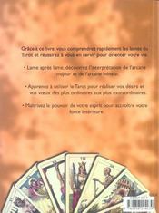 Comprendre le tarot ; pour changer votre destinee et ameliorer votre vie - 4ème de couverture - Format classique