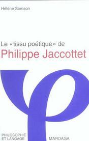 Tissu Poetique De Philippe Jaccottet - Intérieur - Format classique