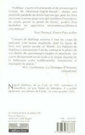 Le Voyageur A La Mallette - 4ème de couverture - Format classique