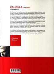 Caligula ; l'impudent - 4ème de couverture - Format classique