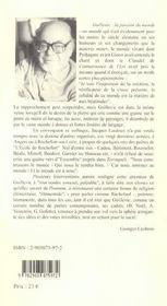 Guillevic La Passion Du Monde - 4ème de couverture - Format classique