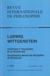 Revue Internationale De Philosophie N.219 ; Ludwig Wittgenstein - Intérieur - Format classique