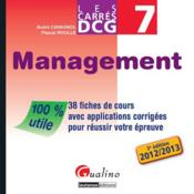 Les carrés DCG 7 ; management 2012-2013 (3e édition) - Couverture - Format classique