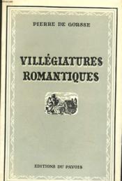 Villegiatures Romantiques - Couverture - Format classique