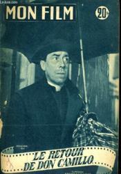 Mon Film N° 403 - Le Retour De Don Camillo - Couverture - Format classique