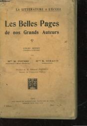 Les Belles Pages De Nos Grands Auteurs - Cours Moyen - Couverture - Format classique