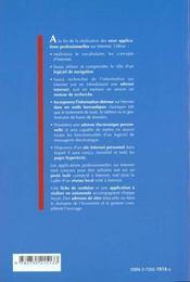 Applications Prof. Sur Internet - 4ème de couverture - Format classique