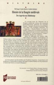 Histoire de la Hongrie médiévale t.2 ; des Angevins aux Habsbourgs - 4ème de couverture - Format classique