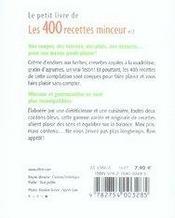 Les 400 recettes minceur t.2 - 4ème de couverture - Format classique