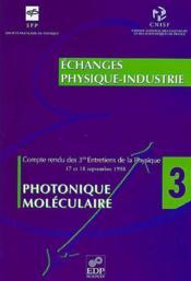 Photonique moleculaire - Couverture - Format classique