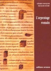 L'arpentage romain - Couverture - Format classique