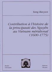 Contribution A L'Histoire De La Principaute Des Nguyen - Intérieur - Format classique