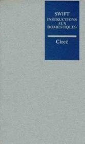 Instructions Aux Domestiques - Couverture - Format classique