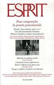 Revue Esprit N.330 ; Pour Comprendre La Pensée Postcoloniale - Couverture - Format classique