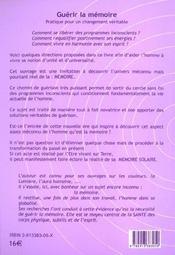 Guerir La Memoire - 4ème de couverture - Format classique