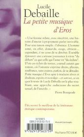La Petite Musique D'Eros - 4ème de couverture - Format classique