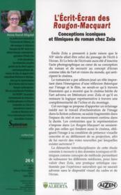 L'Ecrit-Ecran Des Rougon-Macquart - 4ème de couverture - Format classique