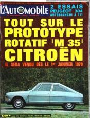 Automobile (L') N°284 du 01/01/1970 - Couverture - Format classique