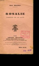 Rosalie. Comedie En Un Acte. - Couverture - Format classique