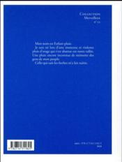 Enfant-pluie - 4ème de couverture - Format classique