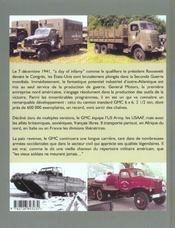 Gmc, Un Camion De Legende - 4ème de couverture - Format classique