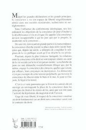 La Conscience Et Le Droit. Actes Du 18eme Colloque National - 4ème de couverture - Format classique