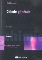 Chimie générale - Intérieur - Format classique