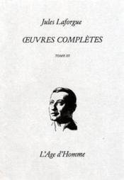 Oeuvres Completes Tome 3 - Couverture - Format classique