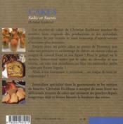 Cakes salés et sucrés - 4ème de couverture - Format classique