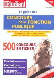 Le guide des concours de la fonction publique (édition 2003) - Intérieur - Format classique