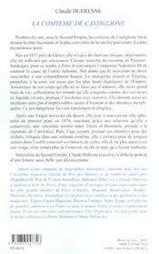 La Comtesse De Castiglione - 4ème de couverture - Format classique