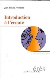 Introduction A L'Ecoute - Intérieur - Format classique