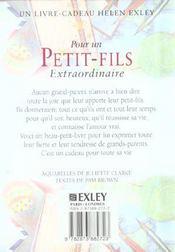 Pour Un Petit Fils Extraordinaire Nlle Edition - 4ème de couverture - Format classique