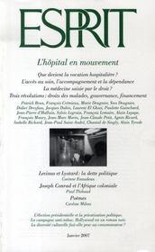 Revue Esprit ; L'Hôpital En Mouvement - Intérieur - Format classique