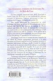Etonnantes Aventures Du Lieutenant Pic Dit Boit-De-L'Ea - 4ème de couverture - Format classique