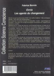 Ovnis : Les Agents Du Changement - 4ème de couverture - Format classique
