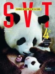 SVT ; 4ème ; livre de l'élève (édition 2011) - Couverture - Format classique