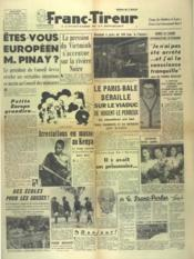 Franc Tireur N°2560 du 22/10/1952 - Couverture - Format classique