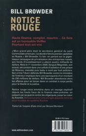 Notice rouge - 4ème de couverture - Format classique