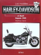 Les Modeles Harley-Davidson Et Buell Depuis 1945 - Intérieur - Format classique