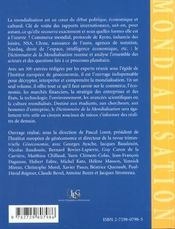 Dictionnaire de la mondialisation - 4ème de couverture - Format classique