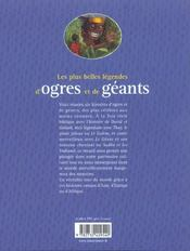 Plus Belles Legendes D'Ogres Et De Geants (Les) - 4ème de couverture - Format classique