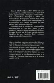 Le mepris des urnes - 4ème de couverture - Format classique