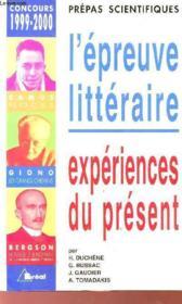 Prepas scientifiques - l'epreuve litteraire - concours 1999-2000 - Couverture - Format classique