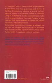 Confucius t.1 ; l'envol du phoenix - 4ème de couverture - Format classique