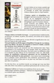 Chakras ; guérir et rééquilibrer vos énergies - 4ème de couverture - Format classique