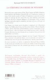 La veritable duchesse de windsor - 4ème de couverture - Format classique