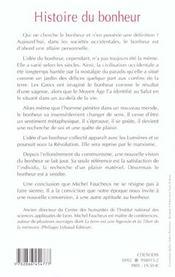 Histoire du bonheur - 4ème de couverture - Format classique
