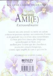 Pour Une Amie Extraordinaire Nlle Edition - 4ème de couverture - Format classique